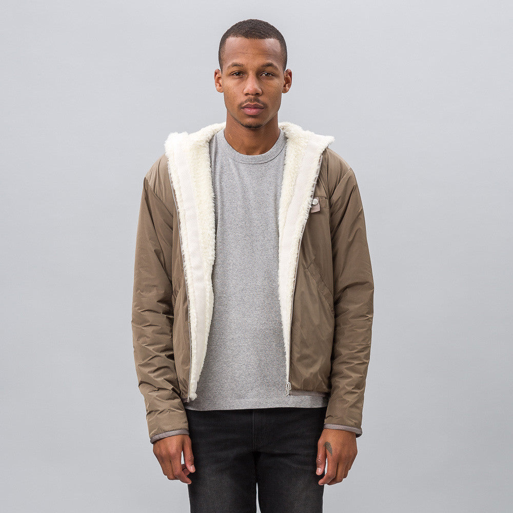 John Elliott Bolivia Reversible Fullzip in Cream x Alpine