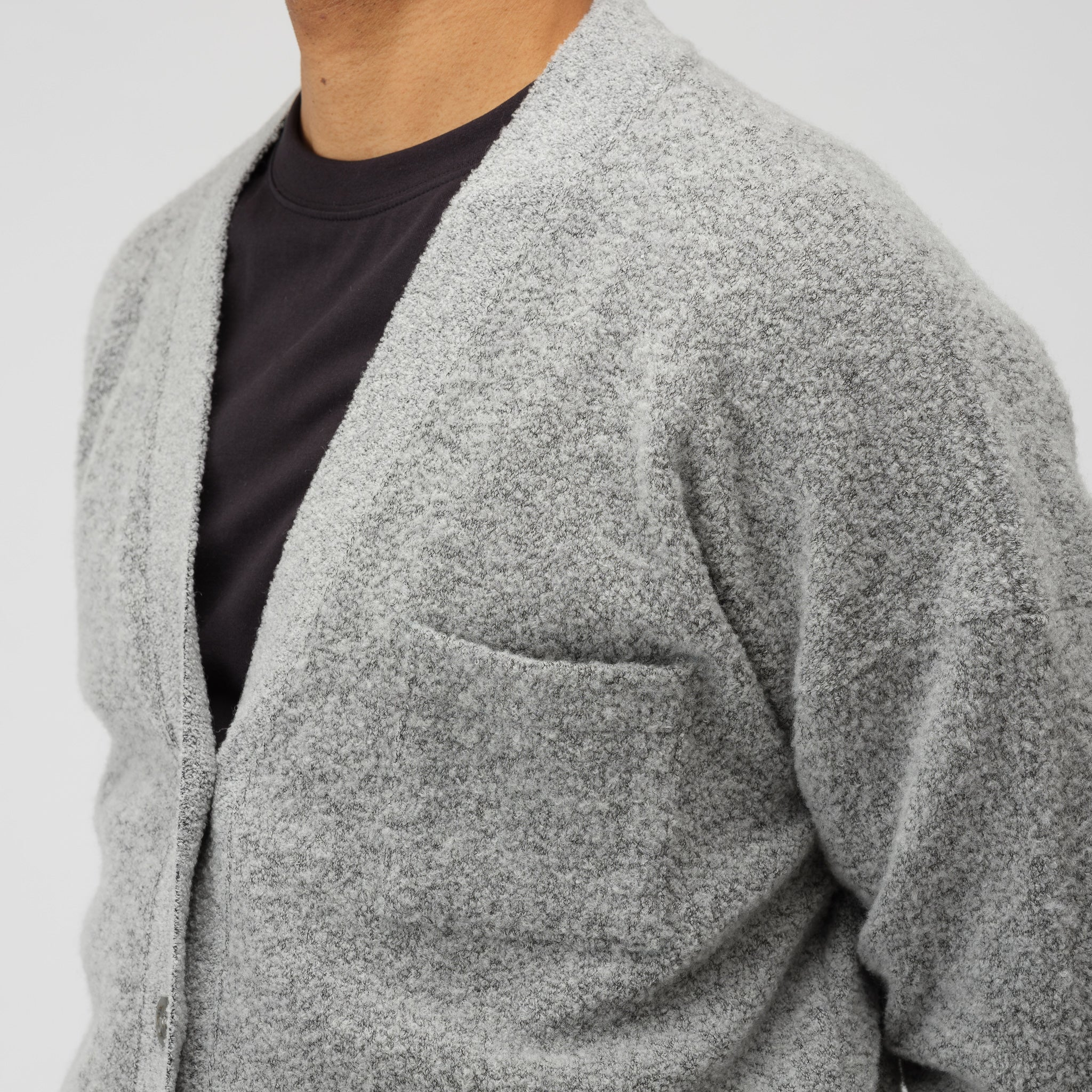 Boucle Cardigan in Grey