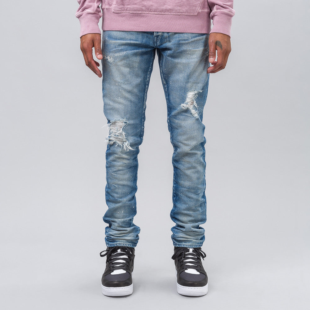 John Elliott Cast 2 Paint Splatter in Light Indigo - Notre