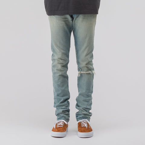 John Elliott The Cast 2 Denim in Light Sunbleached Indigo - Notre