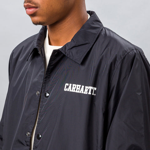 Carhartt WIP College Coach Jacket in Black - Notre