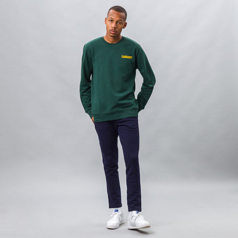 Carhartt WIP College Script Sweatshirt in Green - Notre