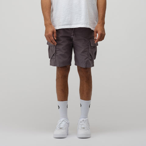 John Elliott Compact Cotton Cargo Shorts in Charcoal - Notre