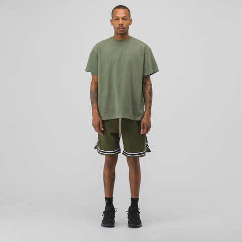Corduroy Basketball Shorts in Olive