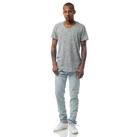 John Elliott Curve U-Neck T-Shirt in Co-Mix Grey - Notre