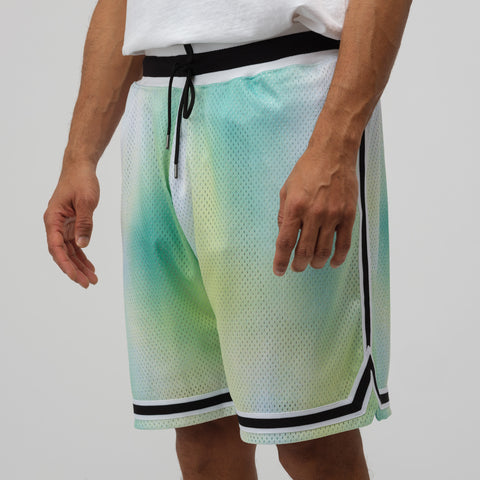 John Elliott Tie Dye Basketball Shorts in Sour Skittles - Notre