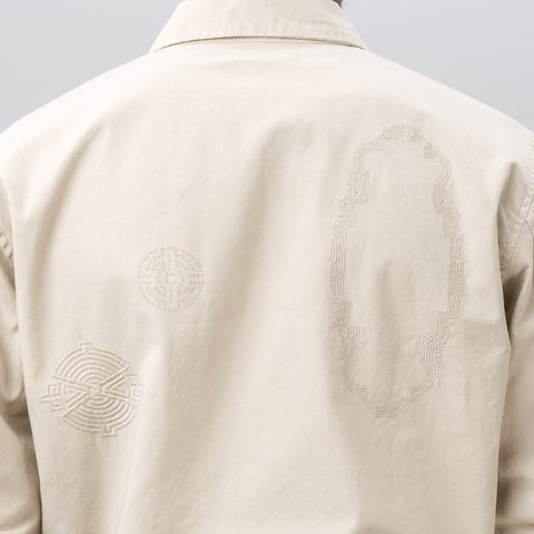 John Elliott Embroidered Flight Jacket in Natural - Notre