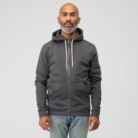 John Elliott Flash 2 Full Zip in Charcoal - Notre