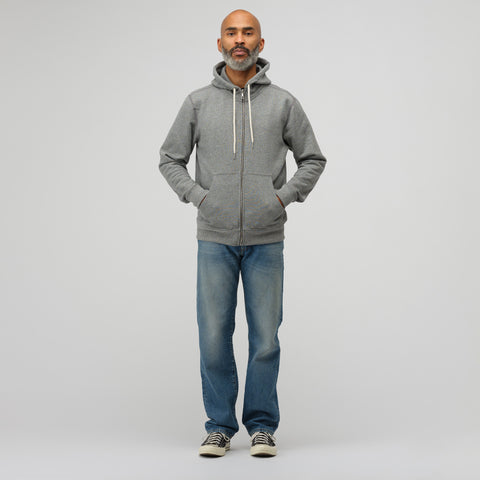 John Elliott Flash 2 Fullzip Sweatshirt in Dark Grey - Notre