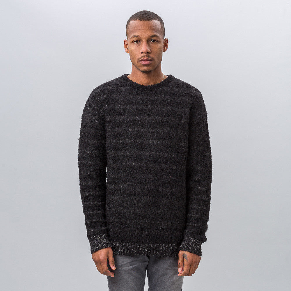 John Elliott Float Knit Crew Sweater in Black - Notre