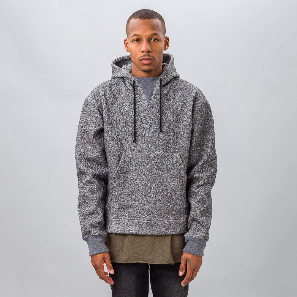 John Elliott Gauze Terry Kake Mock in Grey Model SHot