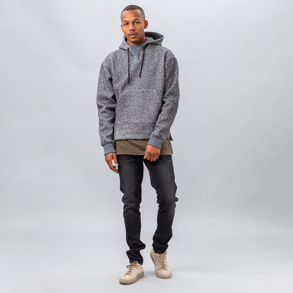 John Elliott - Gauze Terry Kake Mock in Grey - Notre - 1