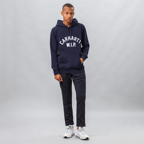 Carhartt WIP Hooded USS Script Sweatshirt in Navy Blue - Notre