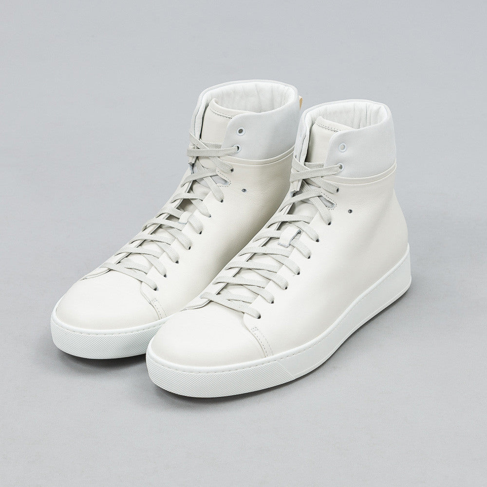 John Elliott - Leather High Top in White - Notre - 1
