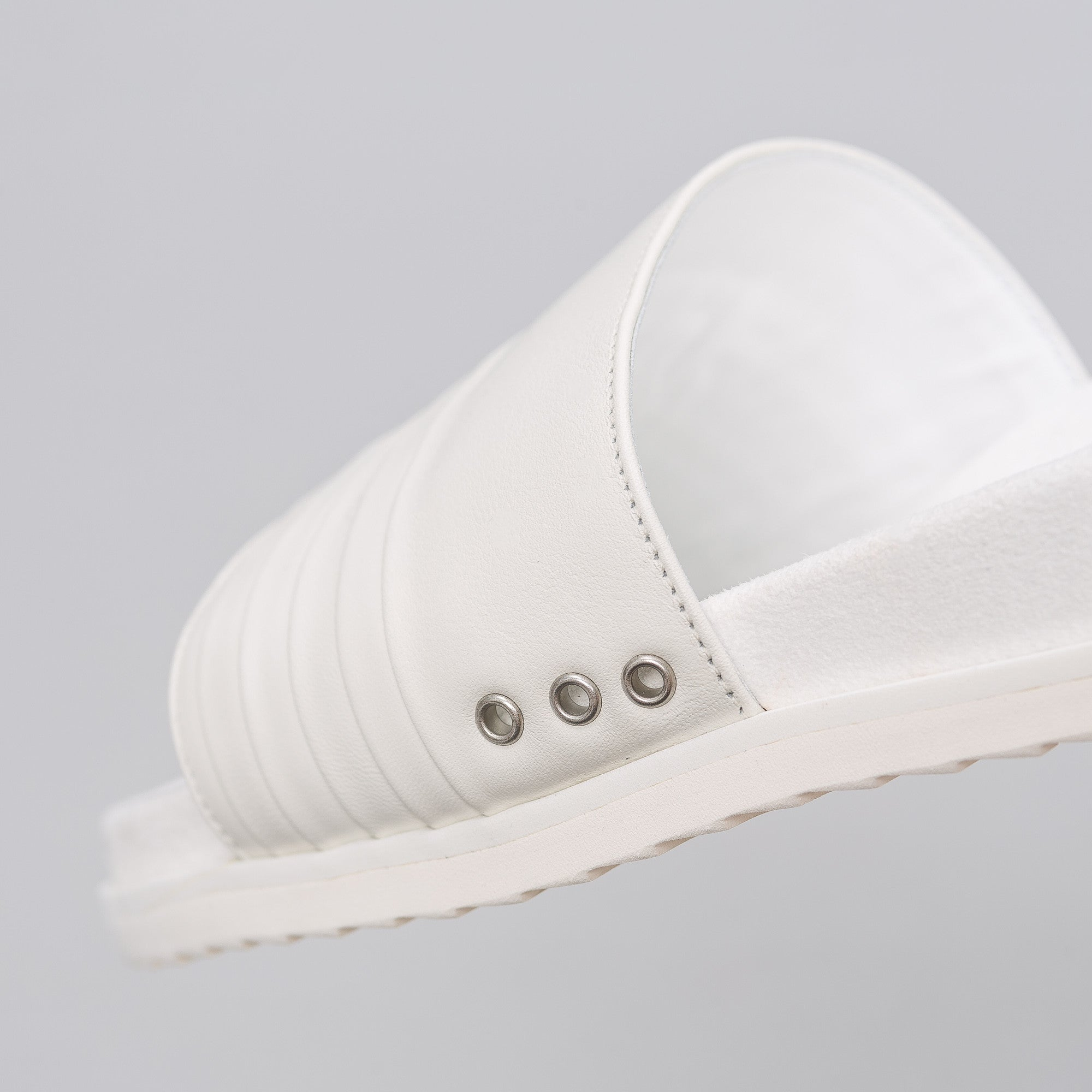 Leather Sandal in White