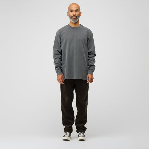 John Elliott Long Sleeve University T-Shirt in Black - Notre