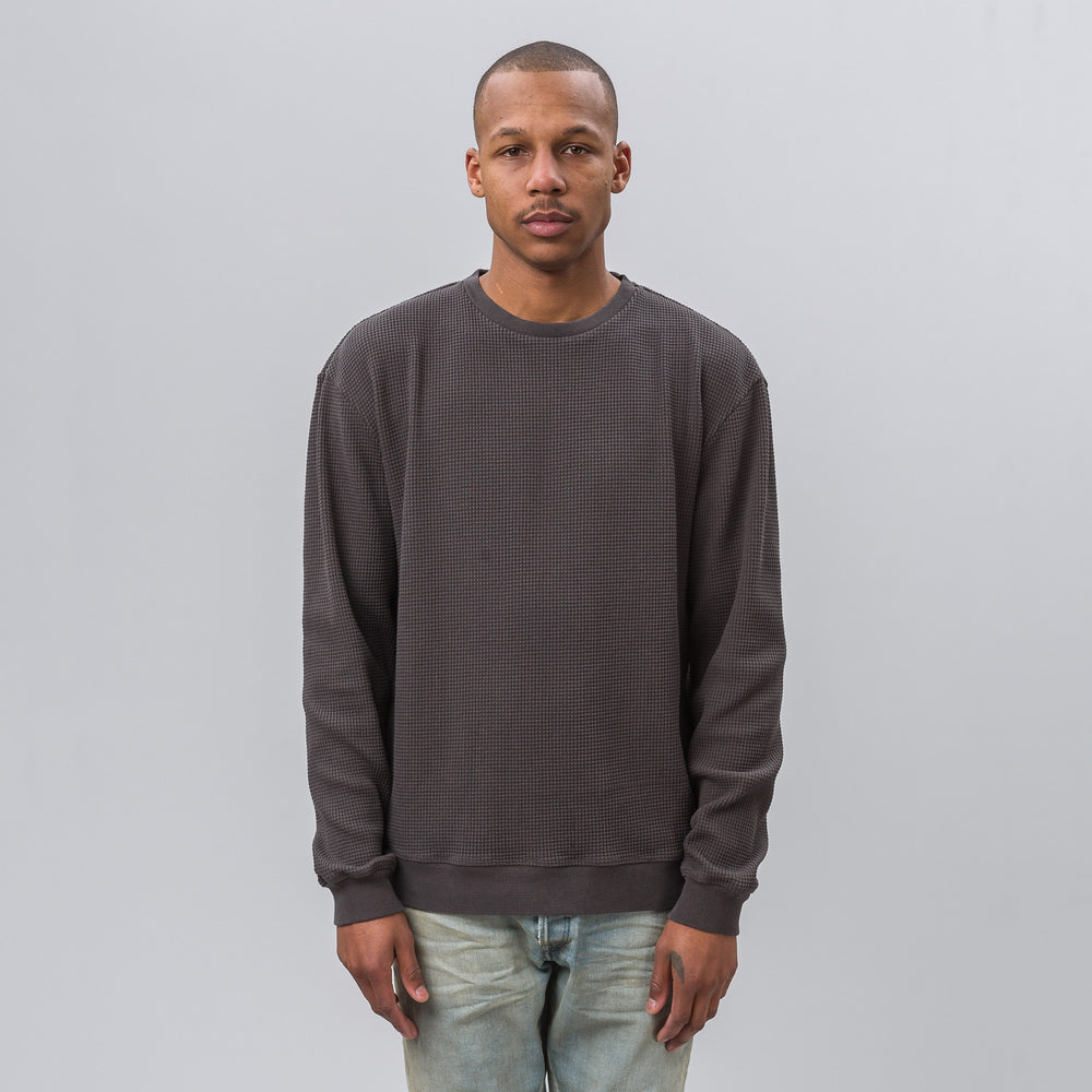 John Elliott LS Oversized Thermal in Charcoal - Notre