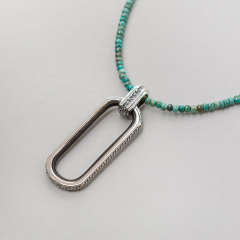 John Elliott x Mars JE Beaded Necklace in Turquoise - Notre