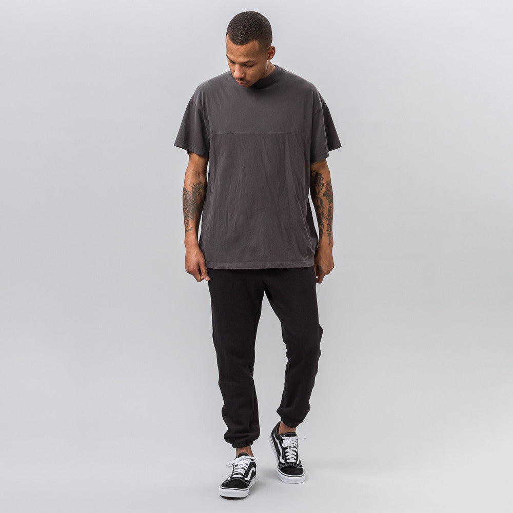 John Elliott Mock Panel Tee in Charcoal - Notre