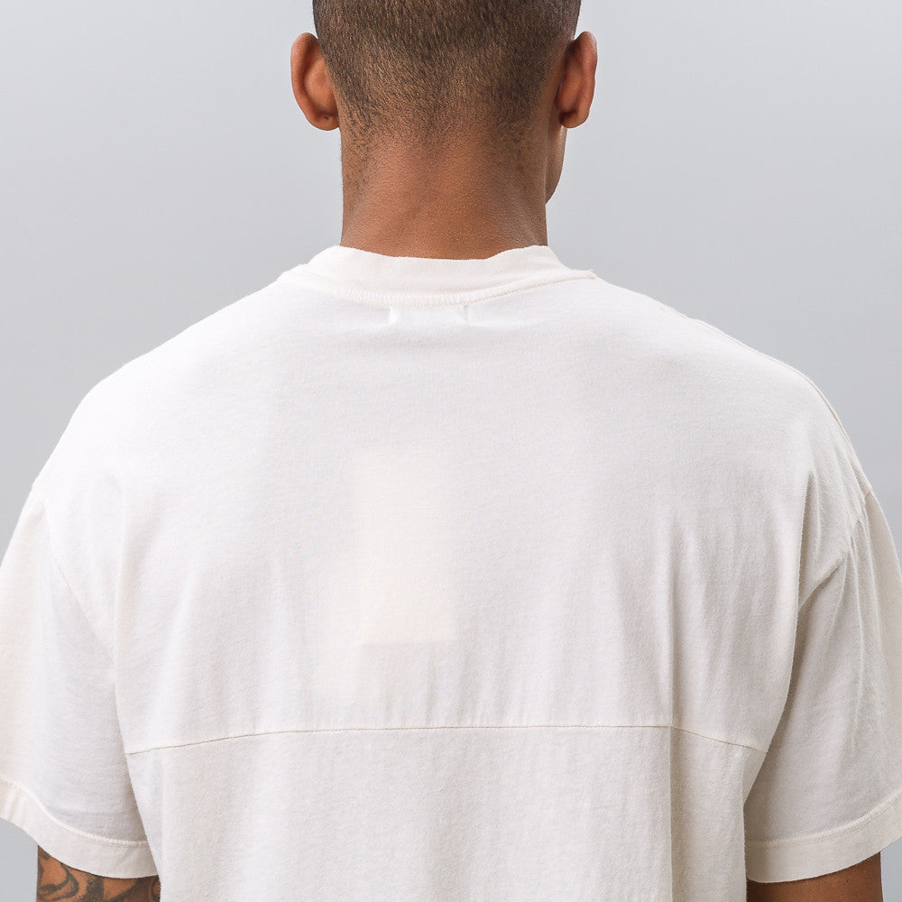 Mock Panel Tee in Natural