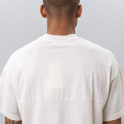John Elliott Mock Panel Tee in Natural - Notre