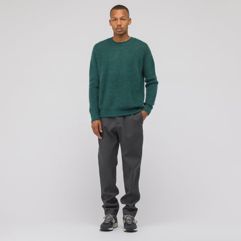 John Elliott Mohair Crewneck Sweater in Teal - Notre