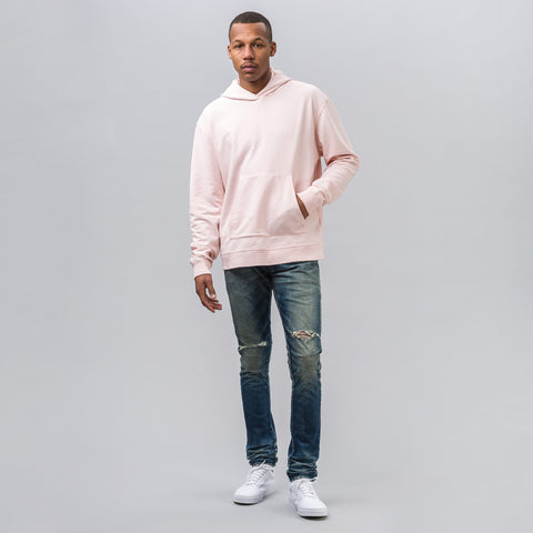 John Elliott Oversized Cropped Hoodie in Pink - Notre