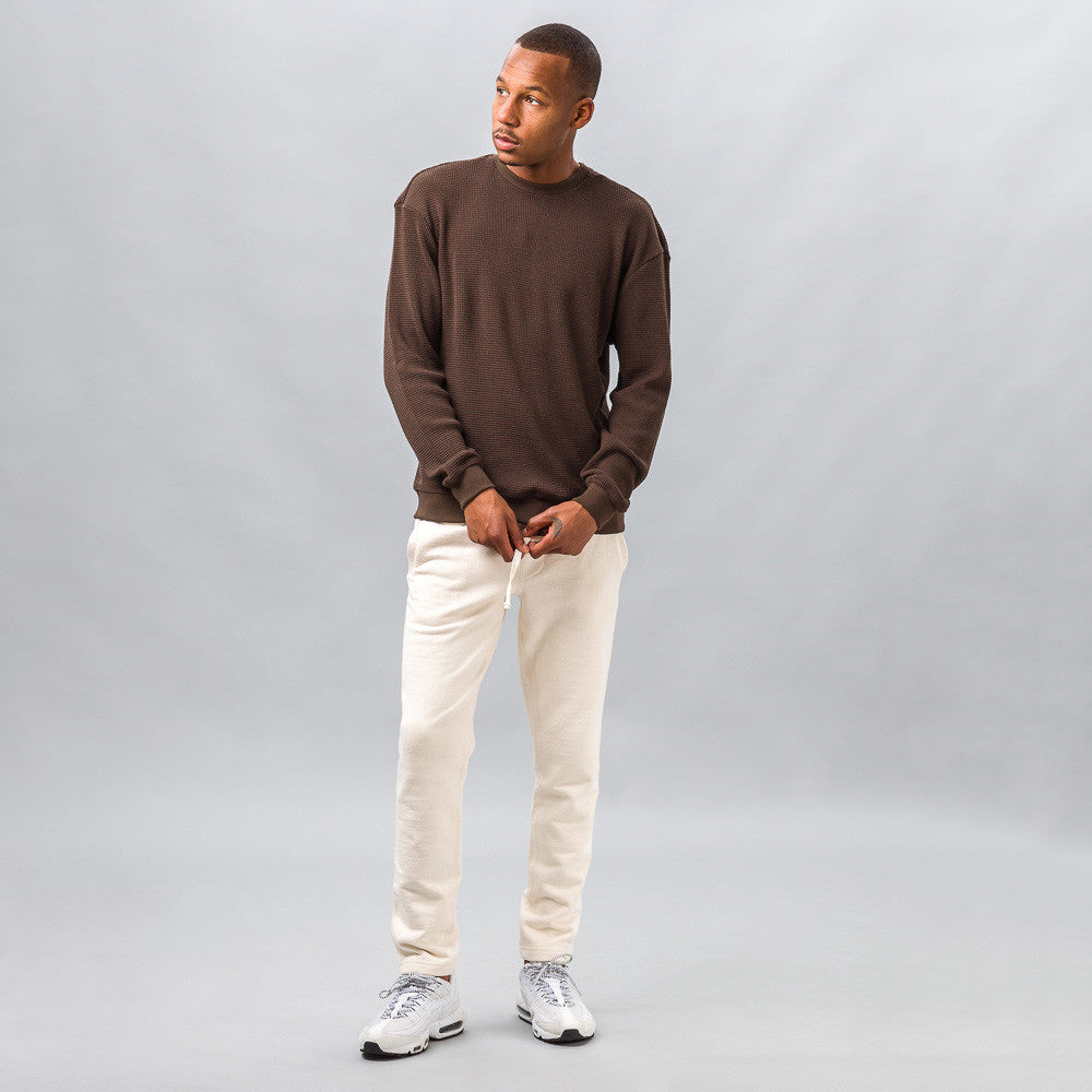 John Elliott - Oversized Thermal Crew in Brown - Notre - 1
