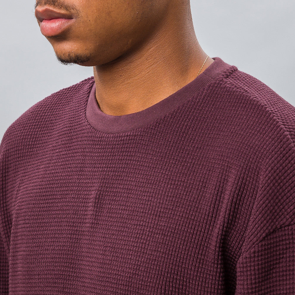 Oversized Thermal Crew in Maroon