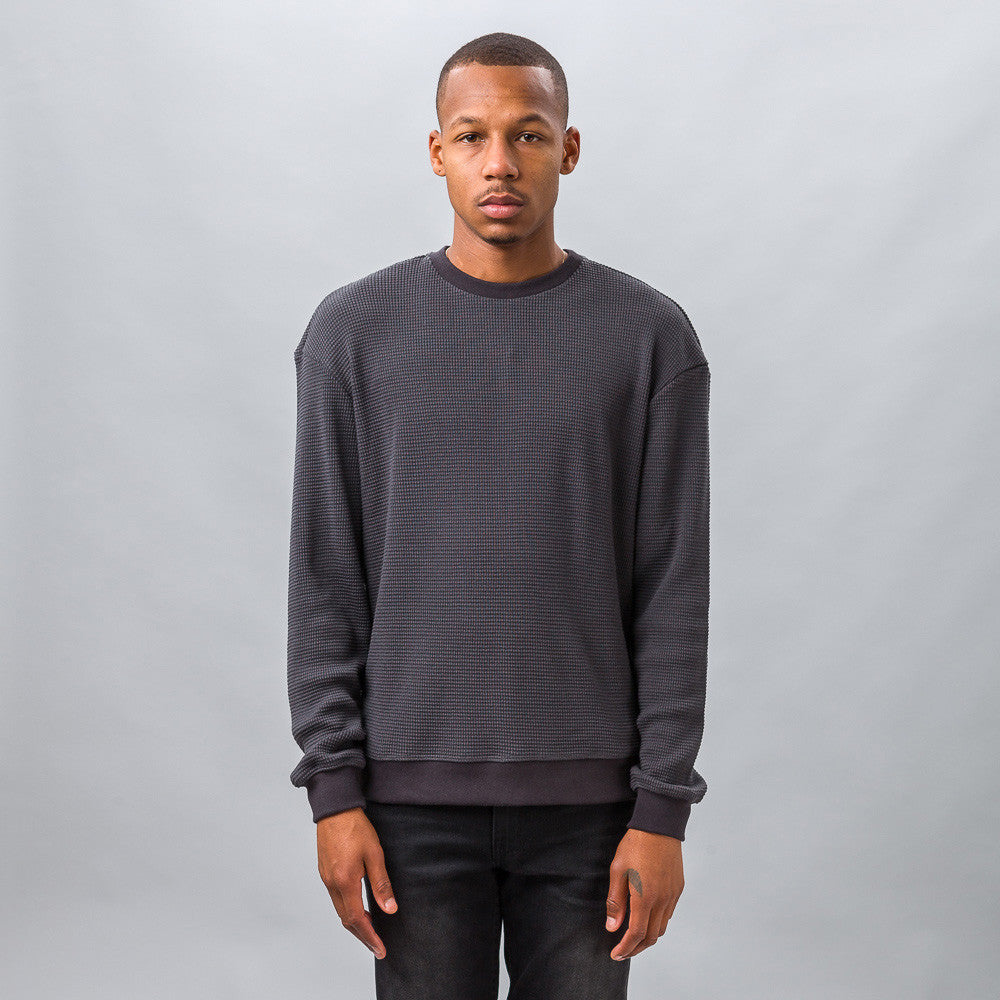 John Elliott Oversized Thermal Crew in Slate Model Shot