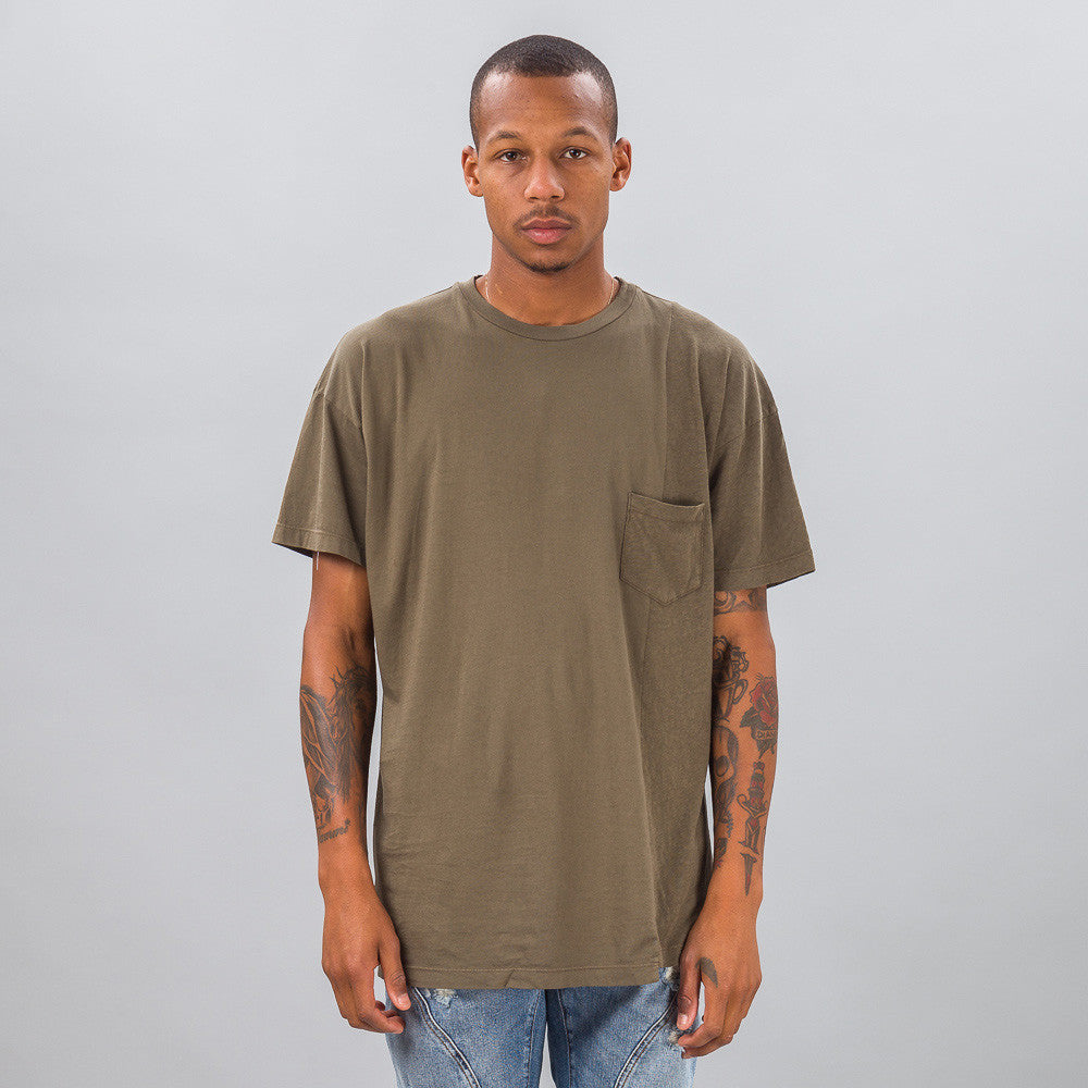 John Elliott - Paneled Pocket Tee in Alpine - Notre - 1