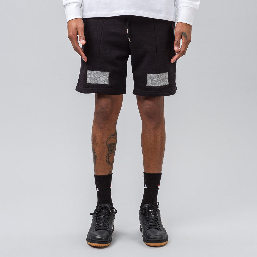 John Elliott Basic Paneled Shorts in Black - Notre