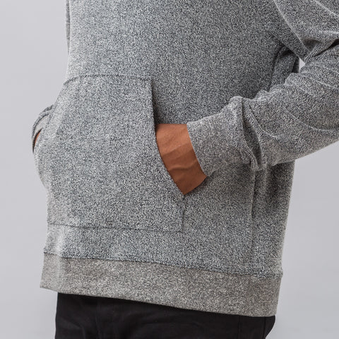 John Elliott Pile Oversized Cropped Hoodie in Grey - Notre
