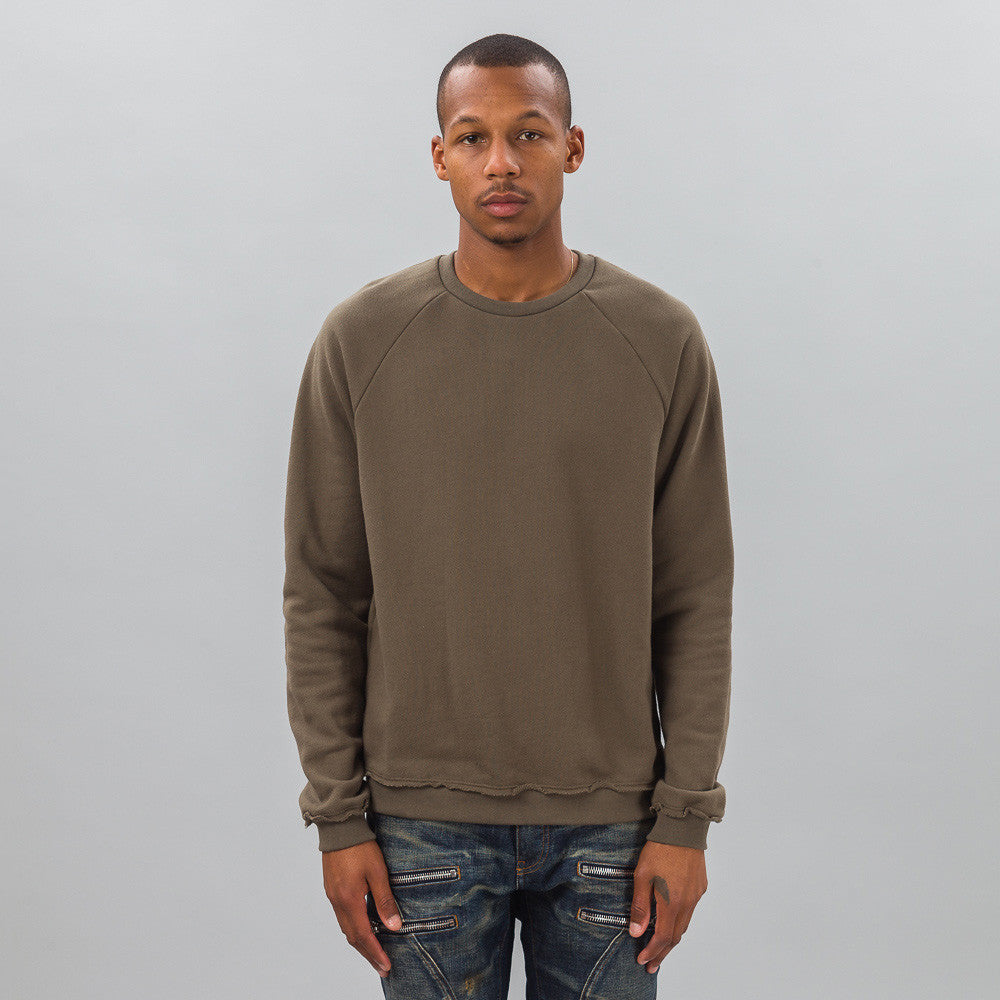 John Elliott - Raw Edge Raglan Crew in Alpine - Notre - 1