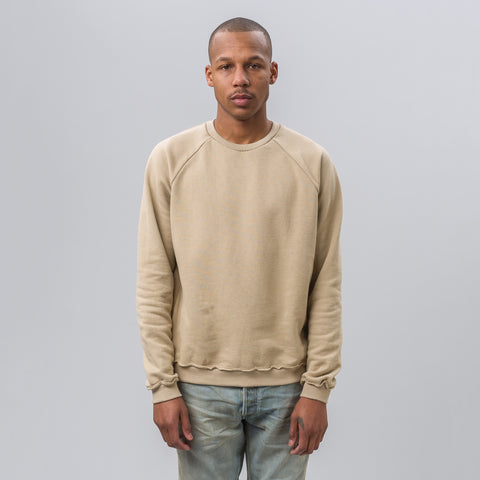 John Elliott Raw Edge Raglan Crew in Dune - Notre
