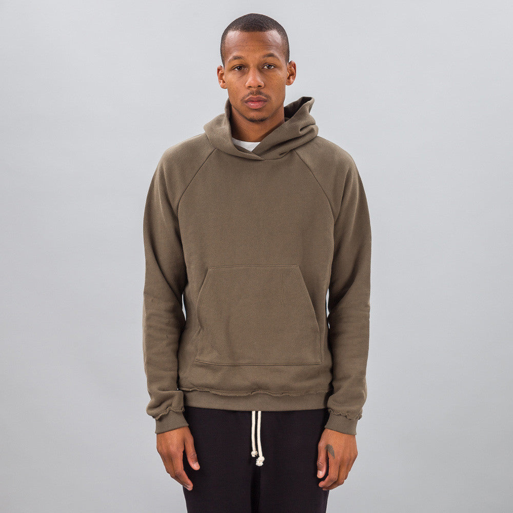 John Elliott - Raw Edge Raglan Hoodie in Alpine - Notre - 1