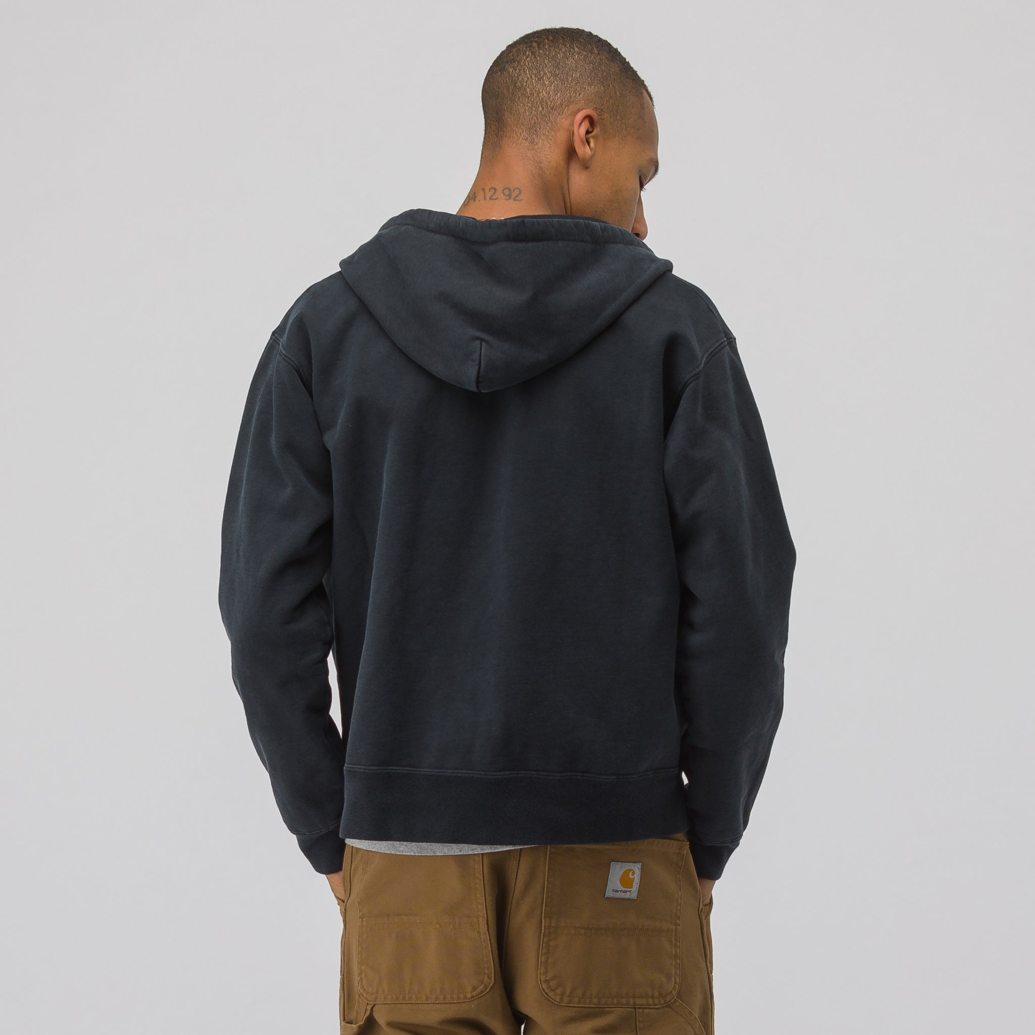 Replica Hoodie in Washed Black