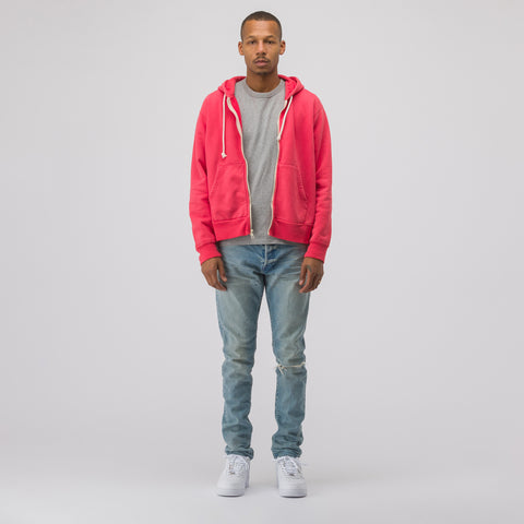 John Elliott Replica Hoodie in Washed Red - Notre