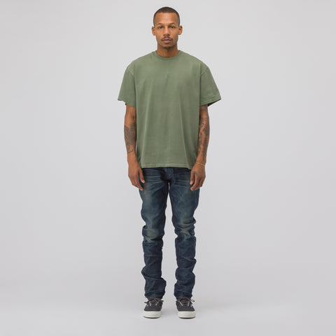 John Elliott Replica T-Shirt in Washed Olive - Notre