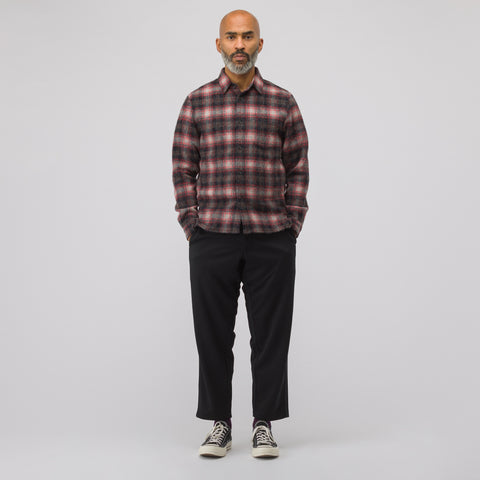 John Elliott Sly Straight Hem Shirt in Alpaca Check - Notre