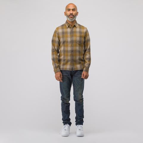 John Elliott Sly Straight Hem Shirt in Honey - Notre