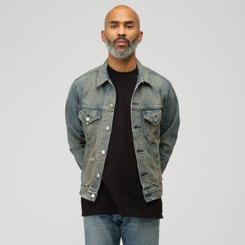 John Elliott Terrain Jacket Shield in Indigo - Notre