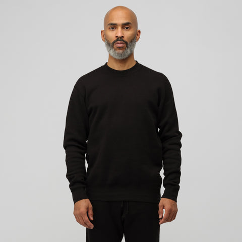 John Elliott Vintage Fleece Crew in Vintage Black - Notre