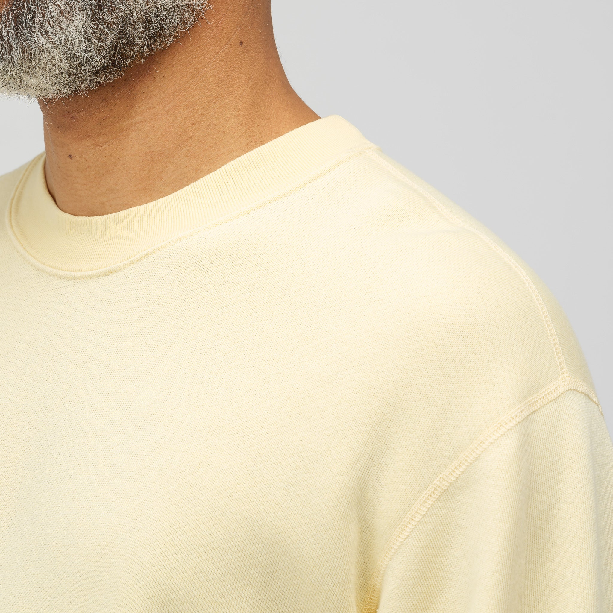 Vintage Fleece Crewneck in Light Yellow