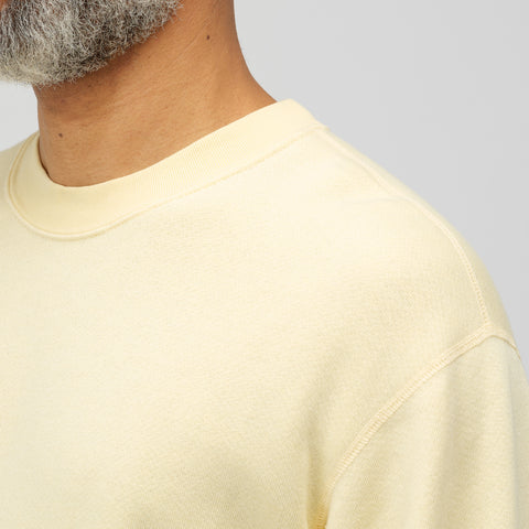 John Elliott Vintage Fleece Crewneck in Light Yellow - Notre