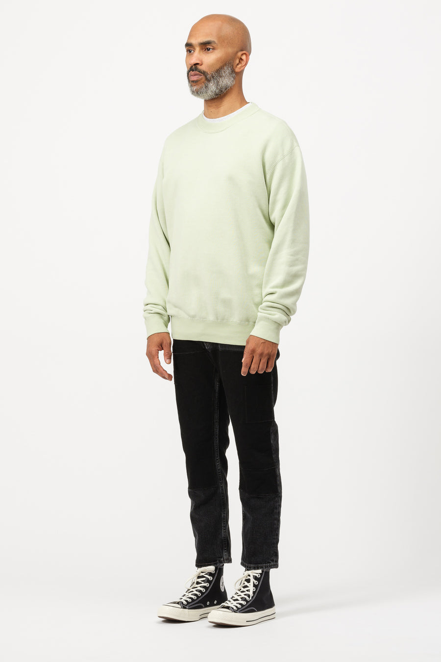 John Elliott Vintage Fleece Crewneck in Mint Green - Notre