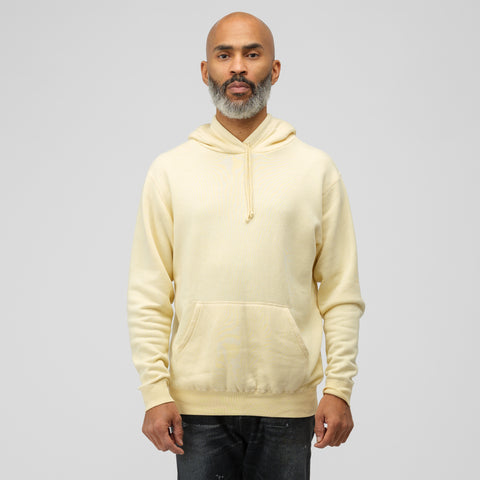 John Elliott Vintage Fleece Hoodie in Light Yellow - Notre