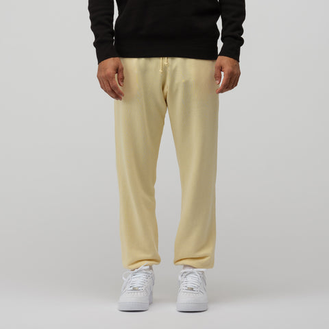 John Elliott Vintage Fleece Sweatpants in Light Yellow - Notre