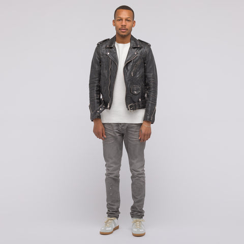 John Elliott x Blackmeans Yuji Washed Riders Jacket in Black - Notre