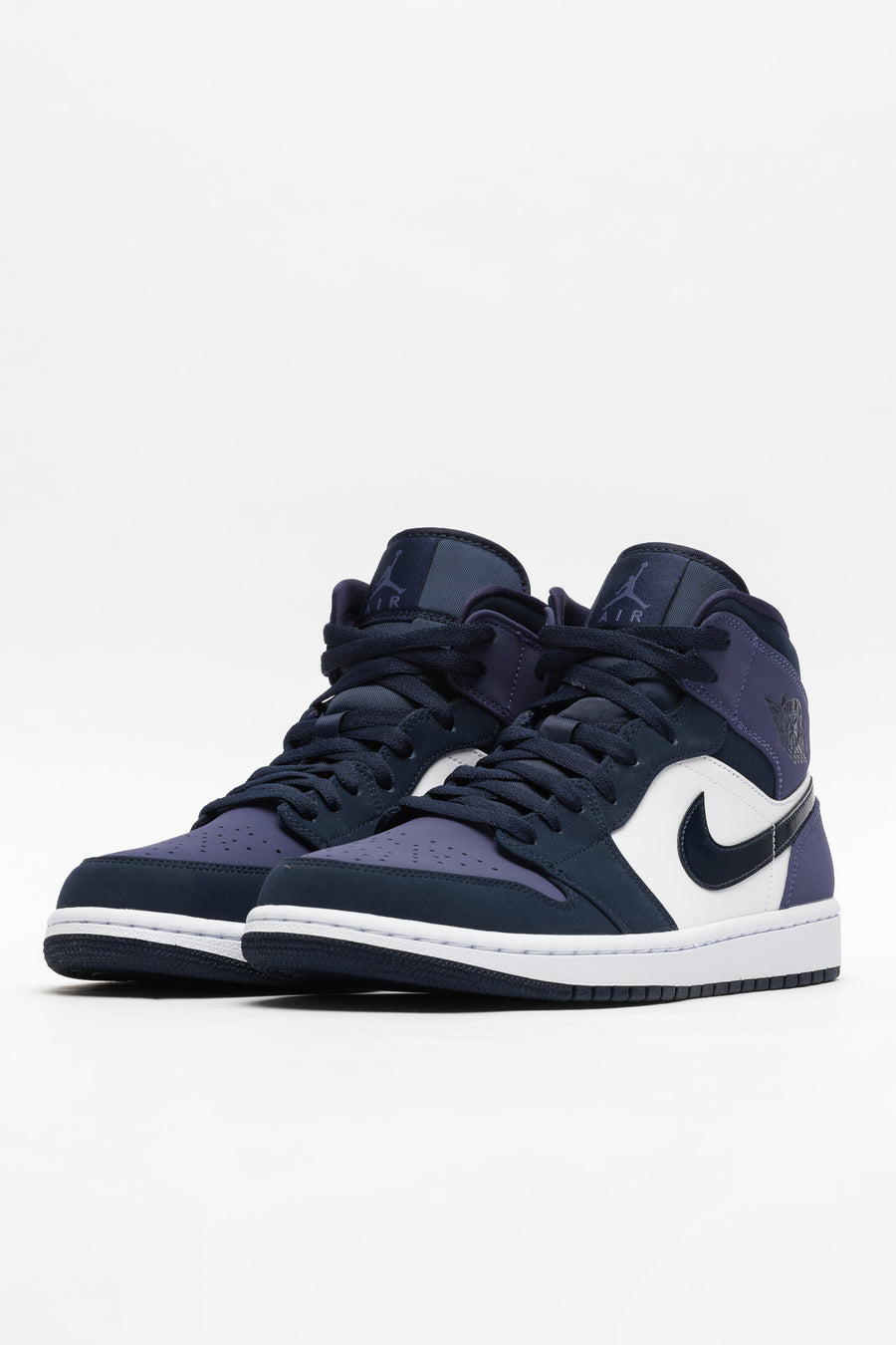 Jordan Air Jordan 1 Mid in Obsidian/Purple/White - Notre